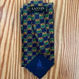 Authentic Lanvin 100% Silk Tie